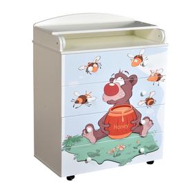Комод Fantasia Little bee, шариковые направляющие, цвет белый