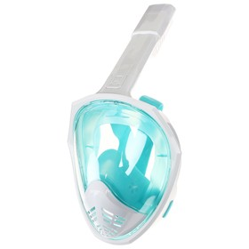 Маска для снорклинга, размер L/XL, цвет голубой