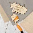 Набор шпулек для ниток мулине «Единороги», 6 × 4 см, 5 шт - фото 692815