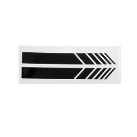 Наклейка на боковое зеркало авто, светоотражающая, 20х5 см, черный, набор 2шт Ош