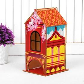 "Diamond embroidery ""Tea house. Chinese motives"" 19.6*9*9 cm"