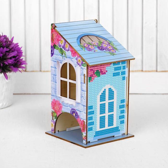 Алмазная вышивка «Чайный домик. Нежность», 17,5 х 8,6 х 8,5 см. Набор для творчества