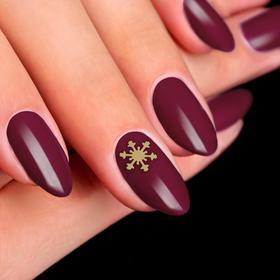 """Decorative elements for nails """"Snowflakes"""", 0,5 × 0,5 cm, 100 PCs, color silver/Golden"""