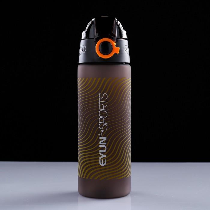 Бутылка для воды 600 мл, с круглым замком на крышке, 23.5х7 см, микс