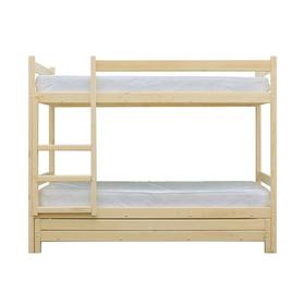 Двухъярусная кровать с выдвижным спальным местом 3 в 1, цвет сосна