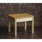 Столик кофейный из массива, 600 × 500 × 500 мм, цвет сосна