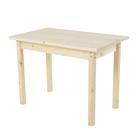 Стол со столешницей «Микки», 1000 × 600 × 800 мм, столешница 28 мм, цвет сосна
