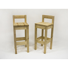 Барный стул с низкой спинкой, 400 ? 400 ? 1050 мм, цвет сосна