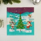 "Napkins ""Santa Claus and Snowman at the Christmas tree"" 33х33 cm, set of 20 PCs"