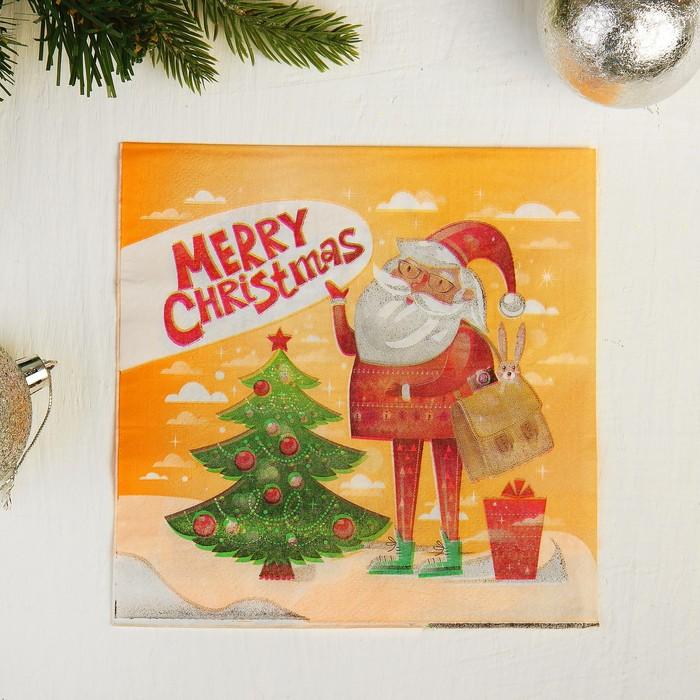 Салфетки бумажные «С Новым Годом», 33х33 см, набор 20 шт.