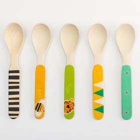 Ложка для кормления, бамбук, цвет МИКС
