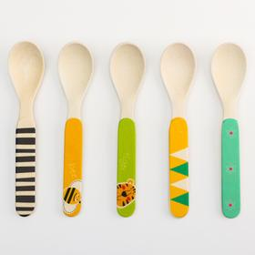 Feeding spoon, bamboo, MIX color