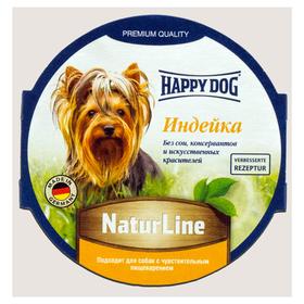 Влажный корм Happy Dog паштет индейка, 85 г Ош