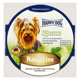 Влажный корм Happy Dog паштет кролик, 85 г Ош