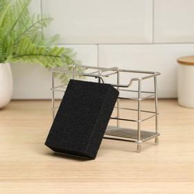 Губка чистящая «Чудо-губка», 10,5×7×2,5 см , усиленная