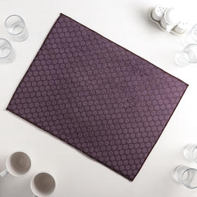 "Mat for drying dishes 38×50 cm ""Dott"", color purple"