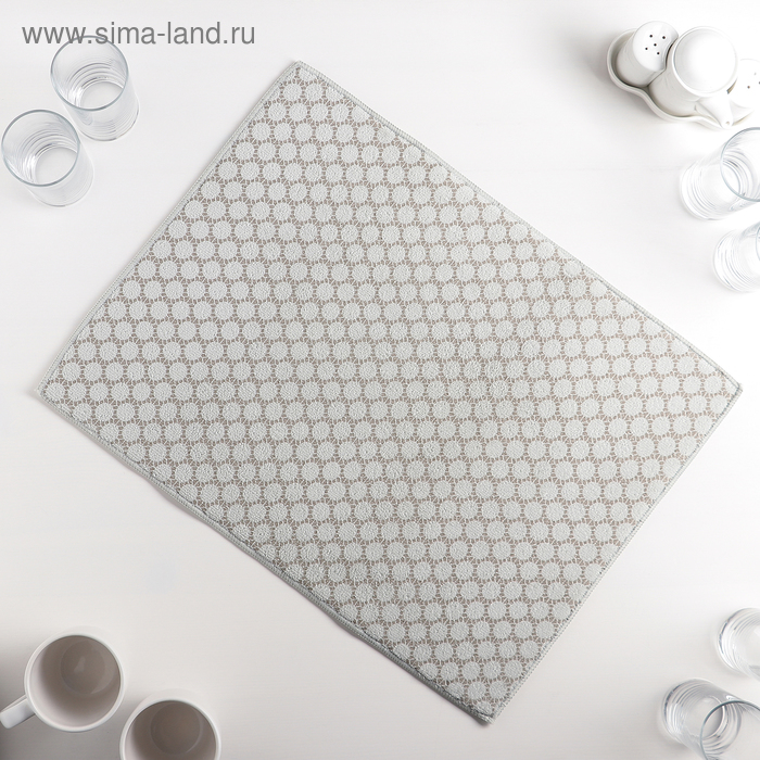 """Mat for drying dishes 38×50 cm """"Dott"""", color gray"""