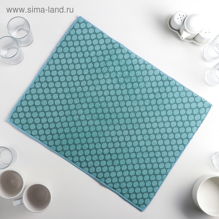 """Mat for drying dishes 38×50 cm """"Dott"""", color blue"""