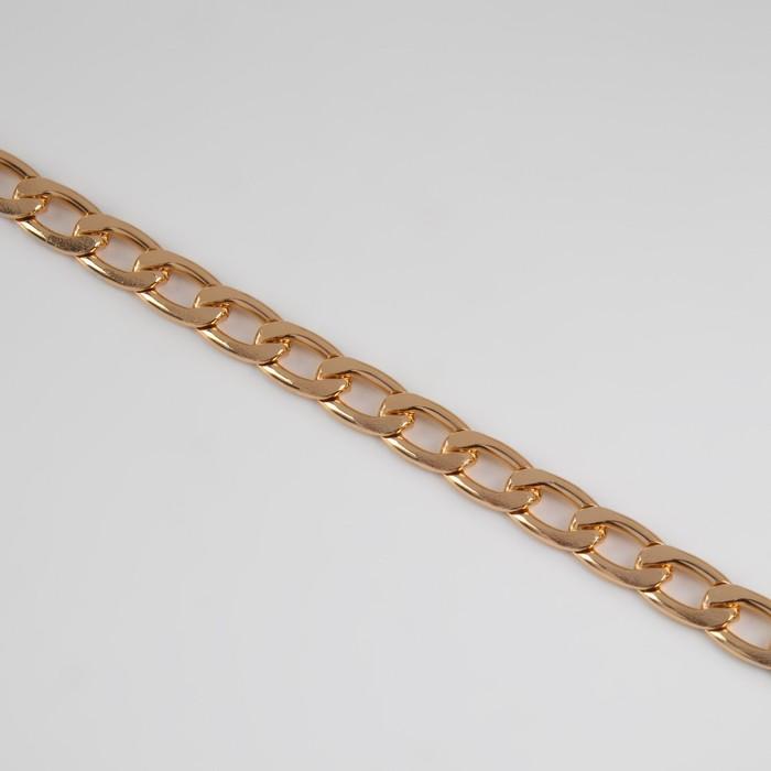Цепочка для сумки, плоская, 7,8 × 11,1 мм, 10 ± 0,5 м, цвет золотой