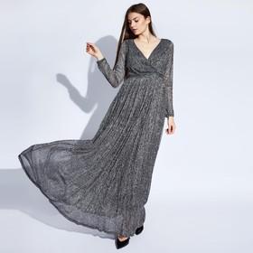 Платье женское MINAKU, цвет серебро, размер 42