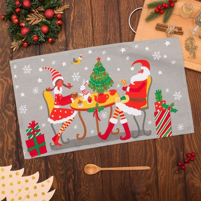 "Towel ""Share"" Santa Claus 35х60см,100% cotton 160 g/m2"