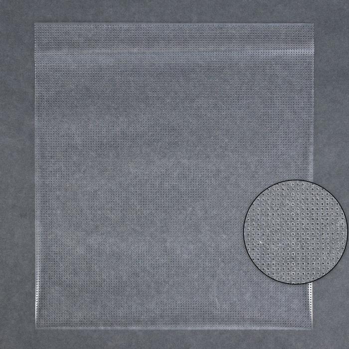Канва водорастворимая, 20 × 22 см, цвет прозрачный