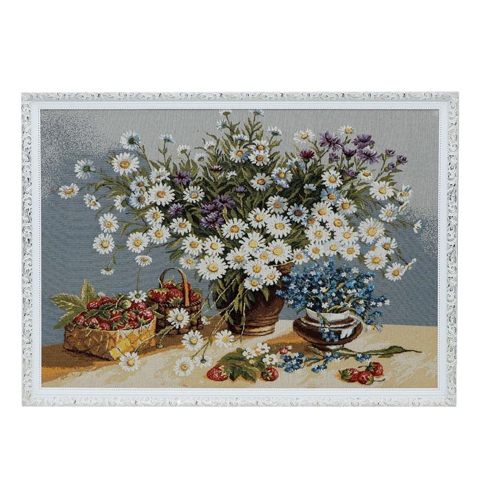 "Гобеленовая картина ""Белые ромашки"" 73х60 см"