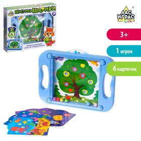 Игра «Шустрые шарики» с карточками, цвета МИКС