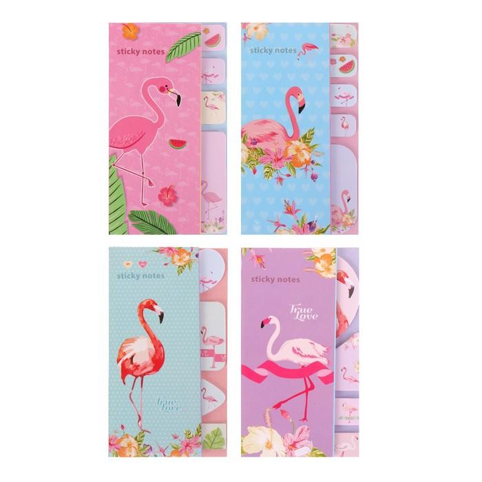 Блок с липким краем «Фламинго», 20 листов х 5 цветов, МИКС - фото 373642091
