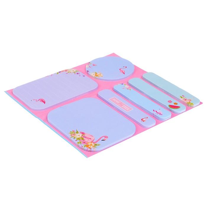 Блок с липким краем «Фламинго», 20 листов х 5 цветов, МИКС - фото 373642092