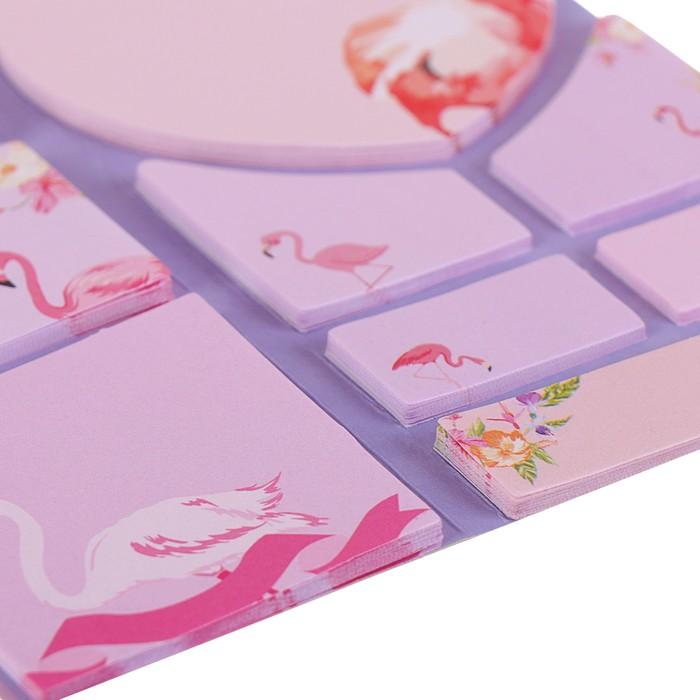 Блок с липким краем «Фламинго», 20 листов х 5 цветов, МИКС - фото 373642094