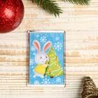 "Magnet acrylic ""Bunny tree"" rectangle, 5,2x7,7 cm"