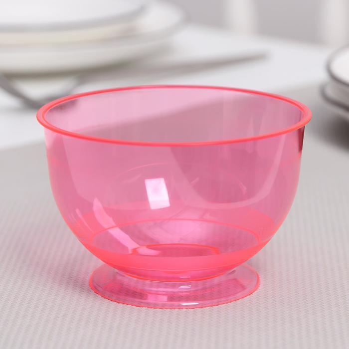 Креманка «Кристалл», 200 мл, цвет красный