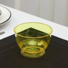 Креманка «Кристалл», 200 мл, цвет жёлтый