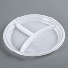 Plate 3-section D=20.5 cm, color white