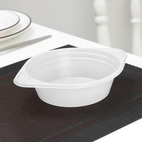 Тарелка суповая 475/500мл, цвет белый Ош