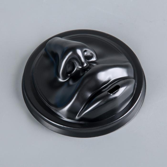 """Крышка на стаканчик D=9 см """"Губы"""" (для SP12,16, DW12,16), цвет чёрный"""