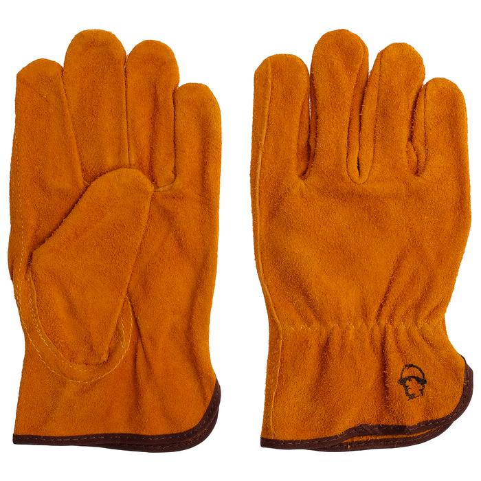 Перчатки цельноспилковые «Драйвер», цвет жёлтый