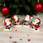 """Сувенир полистоун """"Дед Мороз в красном кафтане с фонариком"""" МИКС 7,3х5,3х4 см"""