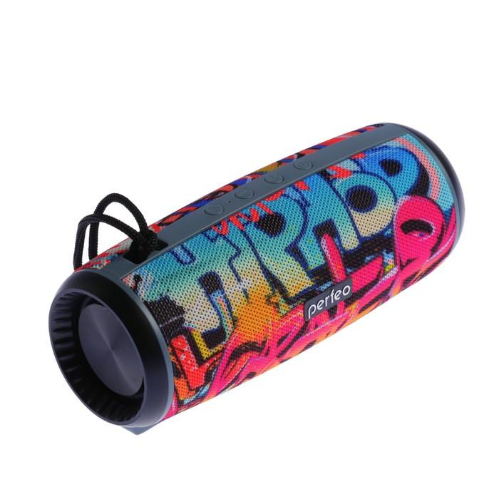Портативная колонка Perfeo HIP-HOP, FM, MP3, microSD, AUX, 12 Вт, 2600 мАч - фото 3292817