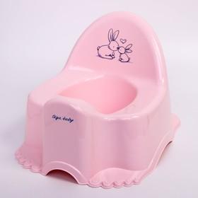 """Горшок """"Кролики"""" музыкальный, цвет розовый"""