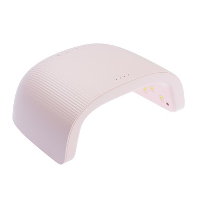 Лампа для гель-лака TNL Sunrise, UV/LED, 48 Вт, 18 диодов, таймер 30/60/90 с, светло-розовая