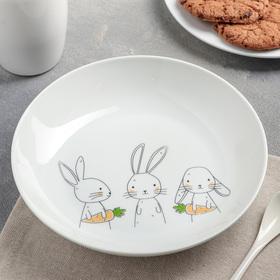 Тарелка глубокая 250 мл Bunny, 20 см