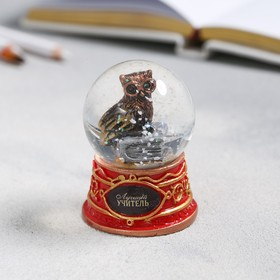 Снежный шар «Подарок учителю», полистоун