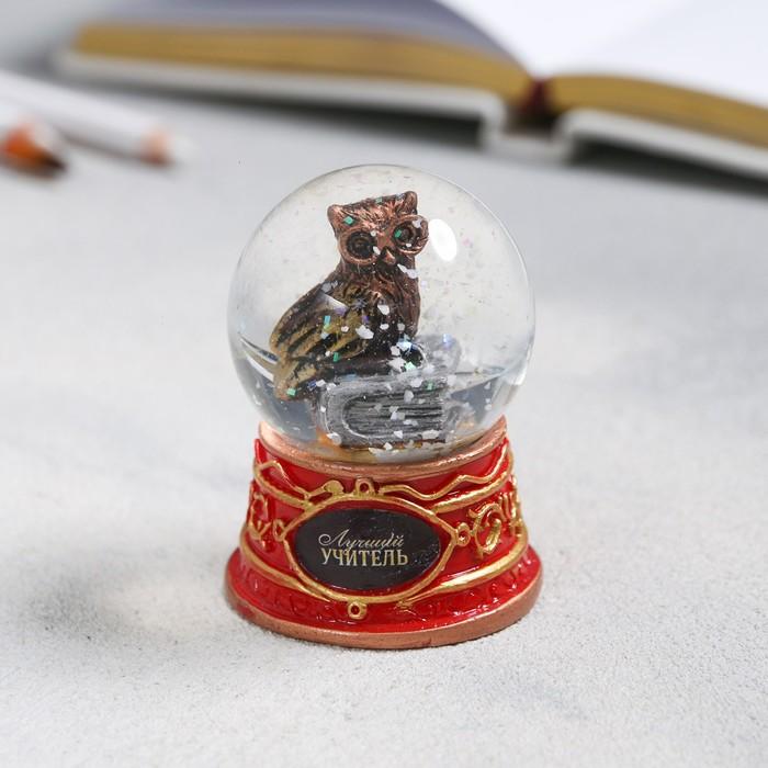 Снежный шар «Сова», 6х4,5см - фото 798277747