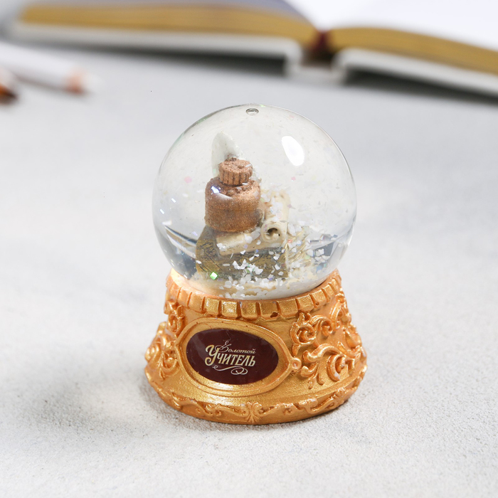 Снежный шар «Перо», 6,5х5см - фото 798277752