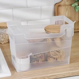 Контейнер хозяйственный 10,5 л, 34×16×25 см, цвет прозрачный