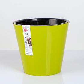 Кашпо со вставкой «Фиджи», 4 л, цвет салатовый