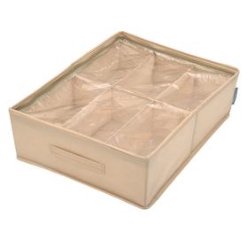 Кофр для обуви «Каир», 53х40х15 см, 6 ячеек