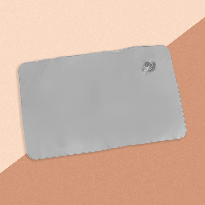 Подушка дорожная, надувная, 24 х 28см, цвет МИКС